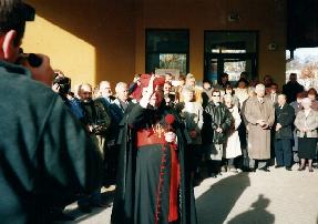 Poświęcenie Ośrodka Seniora przez J.E. Kardynała Henryka Gulbinowicza.